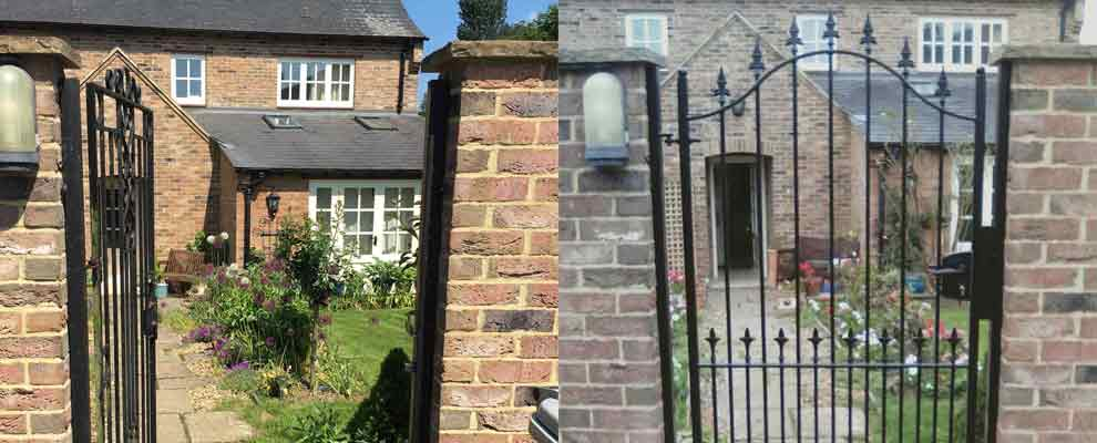 A New Wrought Iron Garden Gate for a Country Cottage