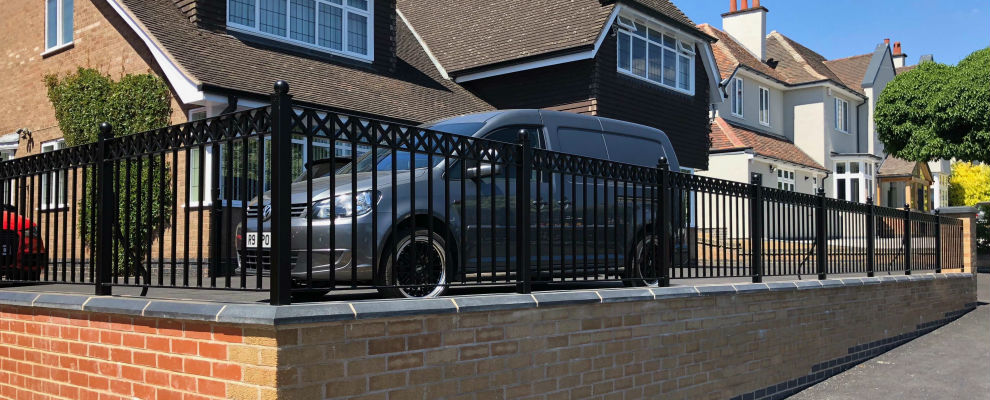 Contemporary Railings for a Residential Driveway