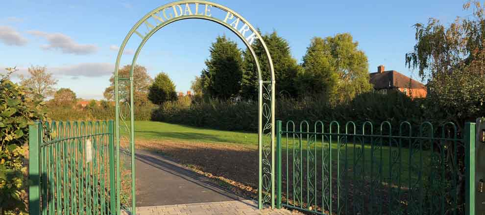 Bespoke Archway and Railings for Langdale Park.