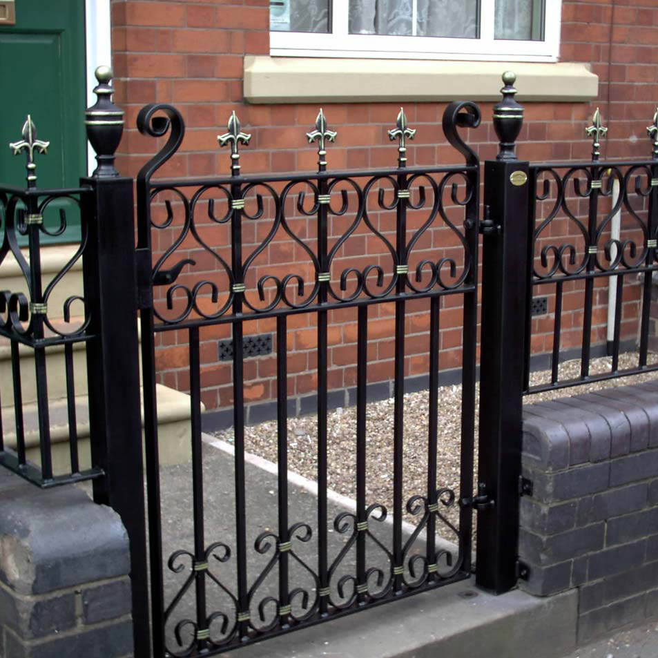 Wrought iron garden gates ironcraft