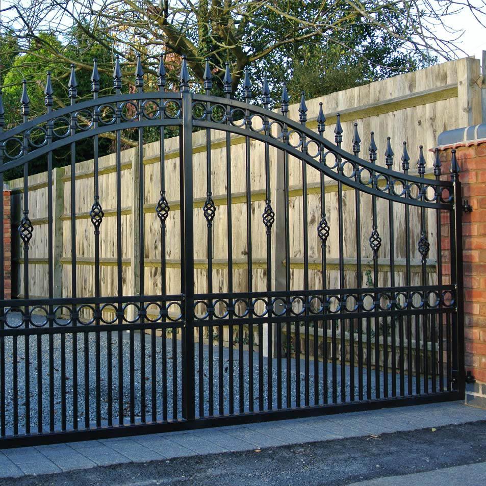 Wrought iron driveway gates ironcraft